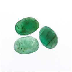 3.56 cts. Oval Cut Natural Emerald Parcel