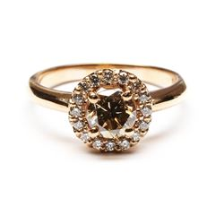 1.27 ctw Diamond Ring - 14K Rose Gold