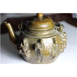 Old-Chinese-Brass Eight-Immortals-8-God-statue- Kettle