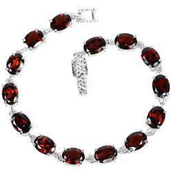 NATURAL AAA DRAK ORANGE RED GARNET Bracelet