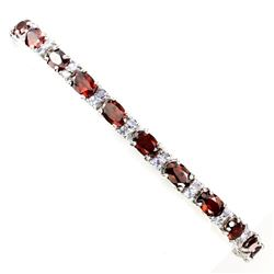 Natural Orange Garnet Tanzanite 69.90 Cts Bracelet