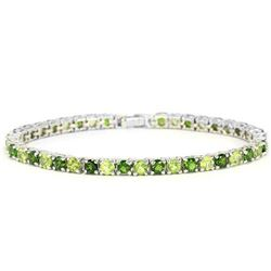 NATURAL GREEN CHROME DIOPSIDE & PERIDOT Bracelet
