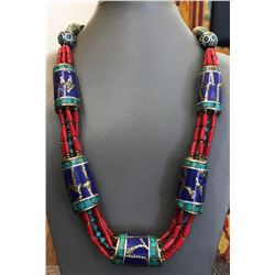 Tibet Natural Stone Tribal Queen Royal Necklace