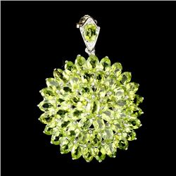 Gorgeous Oval Cut 6x4 Mm Top Rich Green Peridot Pendant