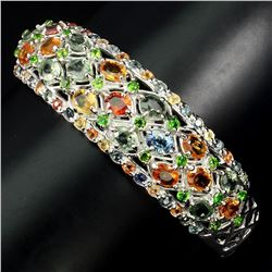 Natural Fancy Sapphire Chrome Diopside Bangle