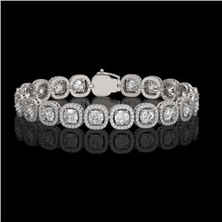 14.41 CTW Cushion Diamond Designer Bracelet 18K White Gold - REF-2635Y6K - 42626