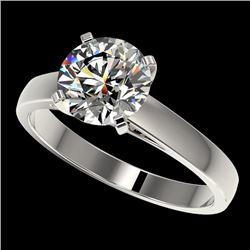 2.05 CTW Certified H-SI/I Quality Diamond Solitaire Engagement Ring 10K White Gold - REF-477M3H - 36