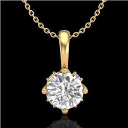 0.62 CTW VS/SI Diamond Art Deco Stud Necklace 18K Yellow Gold - REF-101F8N - 37024