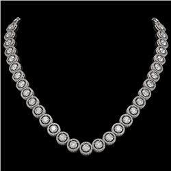 30.78 CTW Diamond Designer Necklace 18K White Gold - REF-4766T9M - 42578