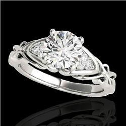 1.1 CTW H-SI/I Certified Diamond Solitaire Ring 10K White Gold - REF-236N4Y - 35200