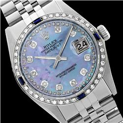 Rolex Ladies Stainless Steel, Diam Dial & Diam/Sapphire Bezel, Sapphire Crystal - REF-434N6A