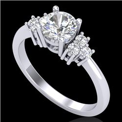1 CTW VS/SI Diamond Solitaire Ring 18K White Gold - REF-227H3A - 36935