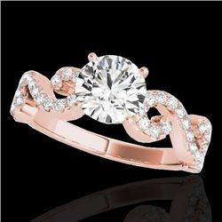 1.4 CTW H-SI/I Certified Diamond Solitaire Ring 10K Rose Gold - REF-218W2F - 35242