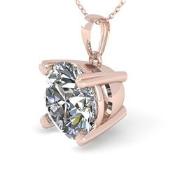 1.50 CTW VS/SI Diamond Designer Necklace 18K Rose Gold - REF-523F2N - 32357