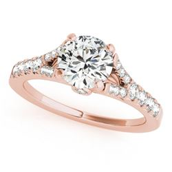 1 CTW Certified VS/SI Diamond Solitaire Wedding Ring 18K Rose Gold - REF-135H3A - 27634