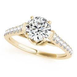 1.25 CTW Certified VS/SI Diamond Solitaire Ring 18K Yellow Gold - REF-206F4N - 27572