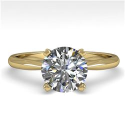 1.54 CTW VS/SI Diamond Engagement Designer Ring 18K Yellow Gold - REF-577W5F - 32437