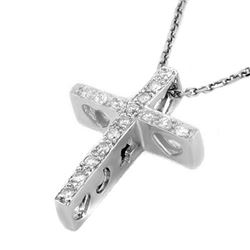 0.17 CTW Certified VS/SI Diamond Necklace 18K White Gold - REF-38W5F - 11091