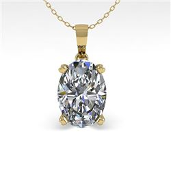 0.50 CTW VS/SI Oval Diamond Designer Necklace 14K Yellow Gold - REF-81H3A - 38408