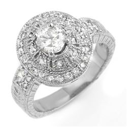 1.33 CTW Certified VS/SI Diamond Ring 18K White Gold - REF-235T3M - 13969