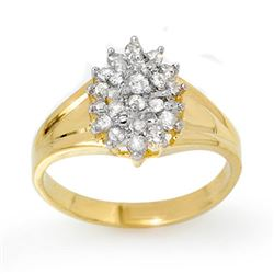 0.25 CTW Certified VS/SI Diamond Ring 10K Yellow Gold - REF-24F8N - 13391