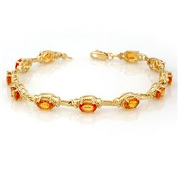 8.0 CTW Yellow Sapphire Bracelet 10K Yellow Gold - REF-81N8Y - 11215