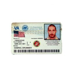 Man Down Gabriel Drummer (Shia LaBeouf) ID Card Movie Props