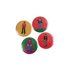 Beatles Original Yellow Submarine 3 inch Buttons Set of Four 1968