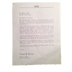 Halloween 2 Dr. Loomis (Malcolm McDowell) Letter Movie Props