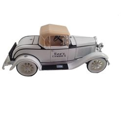 ERTL 1930 Ford Model A Roadster Bank - See's Candies
