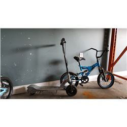 RAZOR ELECTRIC SCOOTER AND SUPERCYCLE KIDS BIKE