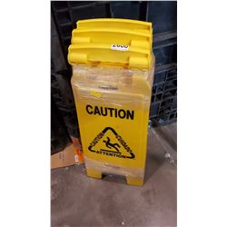 LOT OF WET FLOOR SIGNS