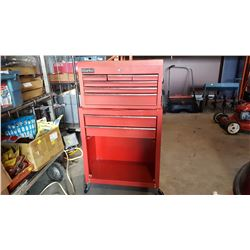 CLARKE 2 PIECE RED ROLLING TOOL BOX