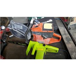 HUSQVARNA K760 CONCRETE SAW AS IS AND ELECTRIC CHAINSAW