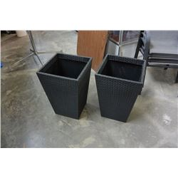 PAIR OF OUTDOOR PLANTER BOXES