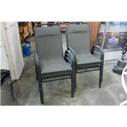 6 BLACK PATIO CHAIRS