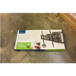 NEW OVERSTOCK INSIGNIA 47-80 INCH FULL MOTION TV WALL MOUNT, COMPLETE, UP TO 110 LBS