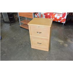 WOOD 2 DRAWER FILING CABINET