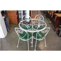 IRON GARDEN TABLE W/ 4 CHAIRS