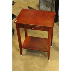 CHERRY FINISH ONE DRAWER TELEPHONE TABLE
