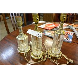 3 CRYSTAL LAMPS