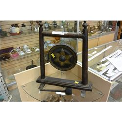 WOOD FRAME GONG W/ MALLET