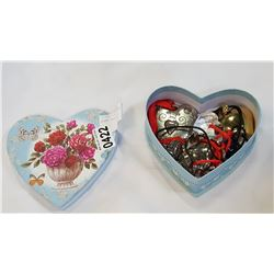 HEART BOX WITH HEART JEWELLRY