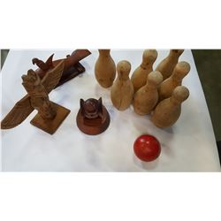 WOOD CARVINGS AND TOYS