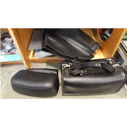 LEATHER SADDLE BAG AND MOTORCYCLE ACCESSORIES