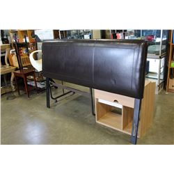 KING SIZE LEATHER HEADBOARD