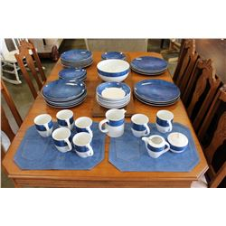 STUDIO POTTERY BLUE DEMIN DISHES