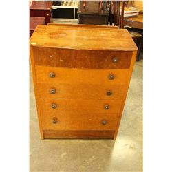 VINTAGE 5 DRAWER HIGHBOY
