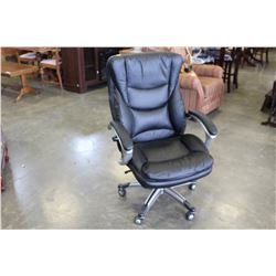 LEATHER OFFICE ARM CHAIR