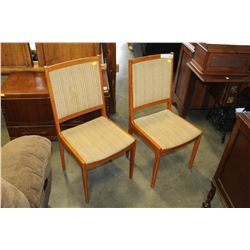 TWO MADE IN DENMARK TEAK CHAIRS